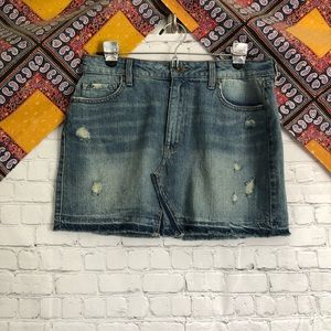 Rewash denim skirt